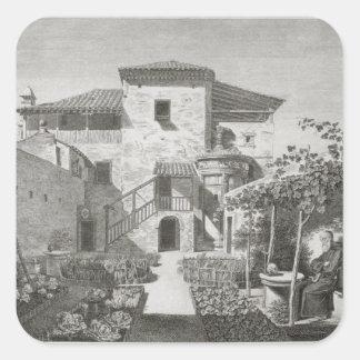 El monumento de Lysicrates en el jardín del Ca Pegatina Cuadrada