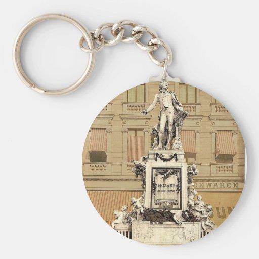 El monumento de Mozart, Viena, Austro-Hungría magn Llavero Redondo Tipo Pin