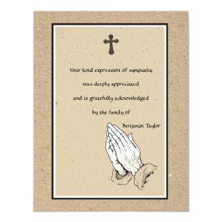 """El monumento de rogación de las manos le agradece invitación 4.25"""" x 5.5"""""""