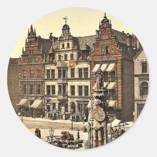 El monumento de Roland, Bremen, Alemania Photochro Pegatinas