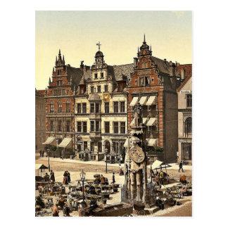 El monumento de Roland, Bremen, Alemania Photochro Postal