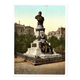 El monumento de Scheffel Karlsruhe Baden rar de Tarjetas Postales