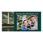 El monumento de Washington Photocard Plantilla Para Tarjeta De Foto