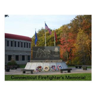 El monumento del bombero de Connecticut Tarjetas Postales