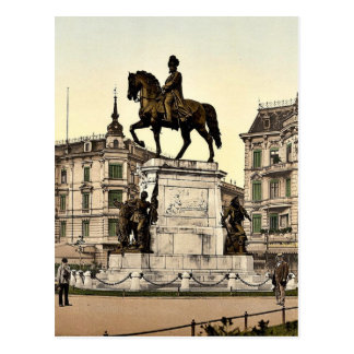 El monumento del emperador Guillermo I, Stettin, a Tarjeta Postal