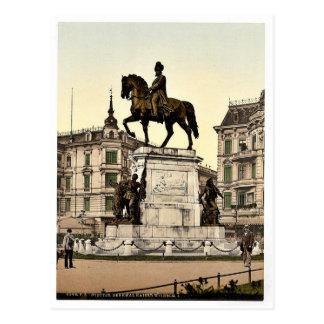 El monumento del emperador Guillermo I, Stettin, a Tarjetas Postales