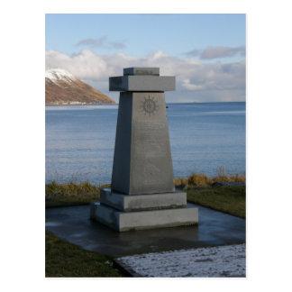 El monumento del pescador, ciudad de Unalaska, Ala Postales
