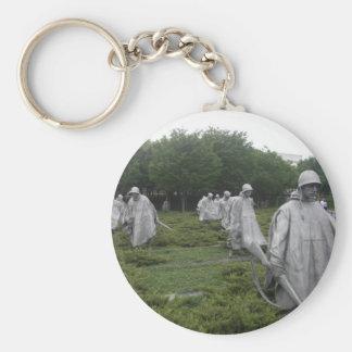 El monumento del veterano de Guerra de Corea Llavero Redondo Tipo Pin