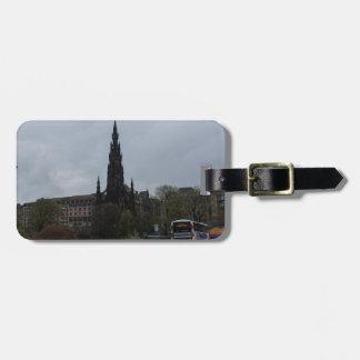 El monumento gótico de Scott en Edimburgo Etiqueta De Equipaje