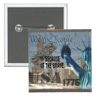 EL MONUMENTO PATRIÓTICO 9-11-01 LOS E.E.U.U. LIBER PIN CUADRADO