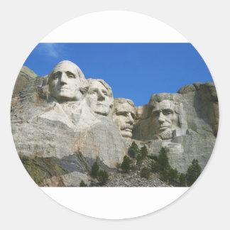 El monumento presidencial del monte Rushmore Pegatina Redonda