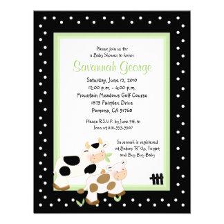 El MOO acobarda la fiesta de bienvenida al bebé Invitaciones Personalizada