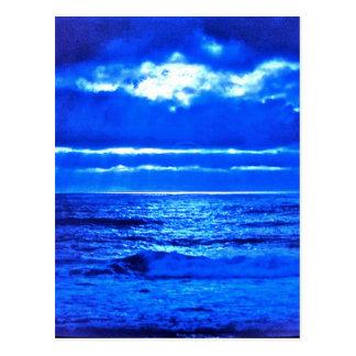 El Moonscape. azul Tarjetas Postales