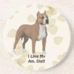 El moreno del ~ de Staffordshire Terrier americano Posavasos Personalizados
