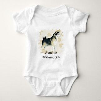 El moreno del ~ del Malamute de Alaska deja Motiff Mameluco De Bebé