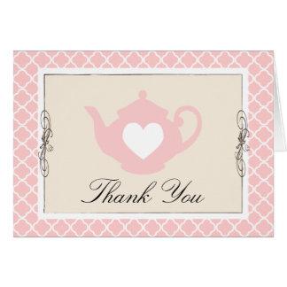 El moreno elegante y el enrejado rosado de la tete tarjeta pequeña