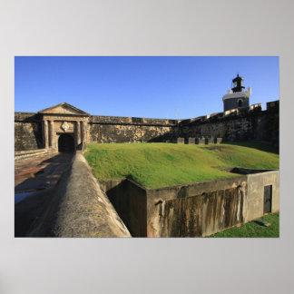 EL Morro castillo de San Felipe puente levadizo Poster