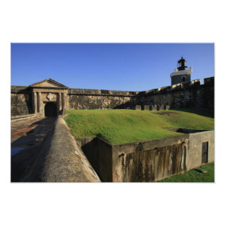 EL Morro, castillo de San Felipe, puente levadizo, Póster