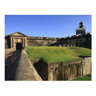 EL Morro, castillo de San Felipe, puente levadizo, Tarjeta Postal