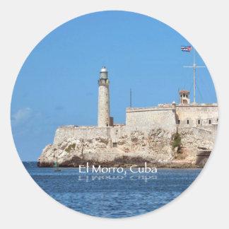 El Morro Castle, Cuba Classic Round Sticker