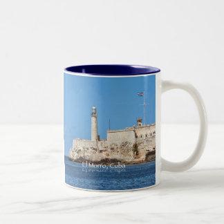 El Morro Castle, Cuba Two-Tone Coffee Mug