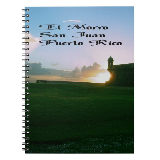 El Morro Fort, San Juan Puerto Rico Notebook