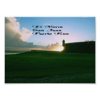 El Morro Fort, San Juan Puerto Rico Photo Print