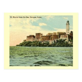 El Morro from the Sea, Havana, Cuba 1913 Vintage Postcard