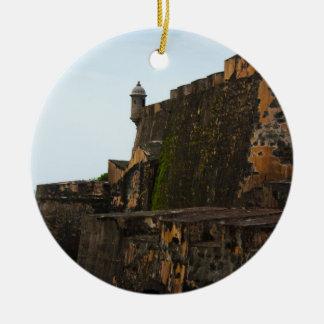 EL Morro Puerto Rico Adorno Redondo De Cerámica