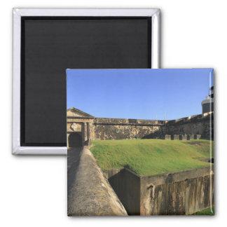 El Morro, San Felipe Castle, Drawbridge, front 2 Inch Square Magnet