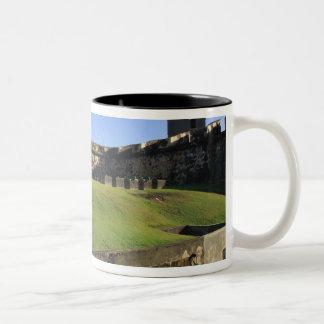 El Morro, San Felipe Castle, Drawbridge, front Two-Tone Coffee Mug