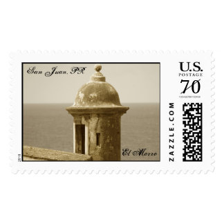 El Morro Tower in Sepia Postage