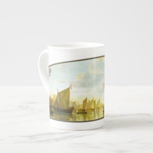 El Mosa en Dordrecht - taza de la porcelana de hue Taza De Porcelana