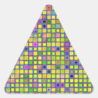 El mosaico amarillo rústico arcilla teja el mode colcomanias trianguladas personalizadas