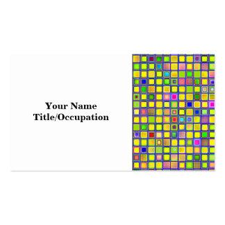 """El mosaico amarillo rústico """"arcilla"""" teja el mode tarjetas de visita"""