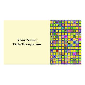 """El mosaico amarillo rústico """"arcilla"""" teja el tarjeta de visita"""