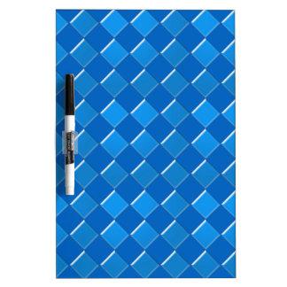El mosaico azul ajusta el modelo tablero blanco
