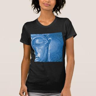 El mosaico azul Buda hace frente Camiseta