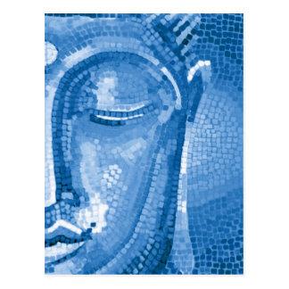 El mosaico azul Buda hace frente Postal