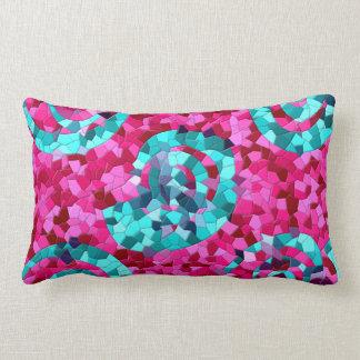 El mosaico azul del trullo enrrollado de las rosas almohadas