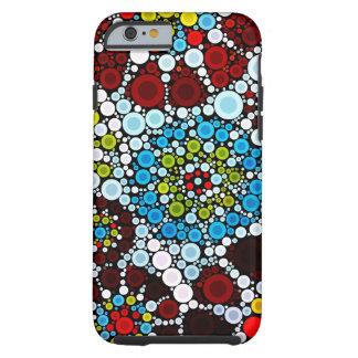 El mosaico colorido de la flor circunda el iPhone Funda Resistente iPhone 6