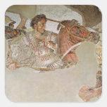 El mosaico de Alexander Calcomania Cuadrada Personalizada
