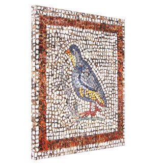 El mosaico del pájaro de Kos envolvió la lona capí Lienzo Envuelto Para Galerías