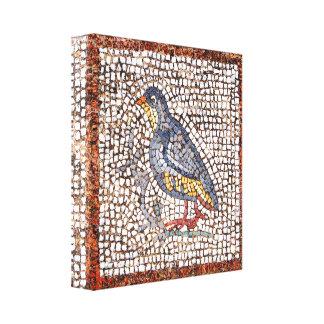 El mosaico del pájaro de Kos envolvió la lona capí Impresión En Lona Estirada