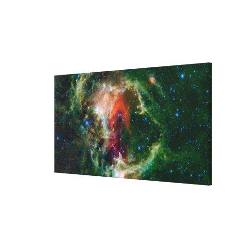 El mosaico está de la nebulosa del alma lienzo envuelto para galerias