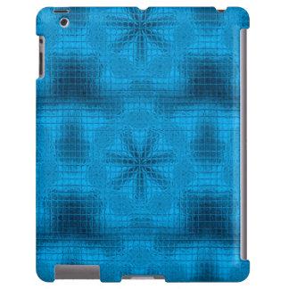 El mosaico florece la caja azul clara del iPad