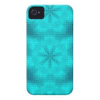 El mosaico florece la caja azul del iPhone 4/4s de iPhone 4 Fundas