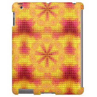 El mosaico florece la caja Rosado-Amarilla-iPad