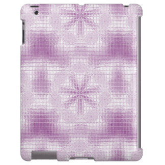 El mosaico florece la luz - púrpura - caso del funda para iPad
