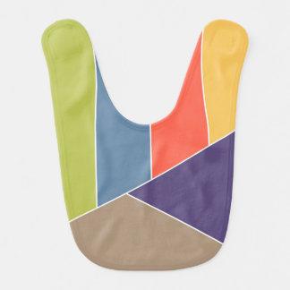 El MOSAICO raya triángulos coloreó I + sus ideas Babero De Bebé